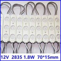 2835 LED-Modul mit Linse DC12V 1.5W Winkel 175 IP65 70mm * 15mm Aluminium PCB hochhellig