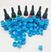 NOUVEAU PRO 7Colors 0.5oz Tatouage Encres Pigment + 100pcs Coupes d'encre bleue pour la carrosserie Art Tatouage Couleur Pigment Cosmétiques Pigment de tatouage