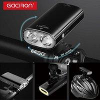 Gaciron 1700 Lumen Phare de vélo Luminaire arrière 2 LED Casque de vélo de LED étanche 5000mAh Lumière d'avertissement intelligente rechargeable