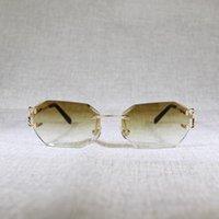Dedo 70% de desconto em Metais C Óculos de sol de vidro Gafas Quadro Mulheres Fio de Verão Diamante Corte claro para Óculos Aleatórios Oculos Homens SKFHQ
