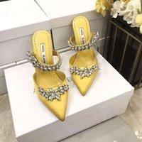 Italie Chaussures Lurum Pumps Fête Cristal Feuilles Embellis Satin Mules Saison de la mode Courwalk mariage