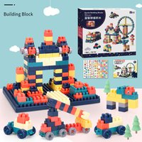 Fidget toy 100 large particles assembled building blocks gift box storage boxs inserting children's enlightenment educational toys kindergarten