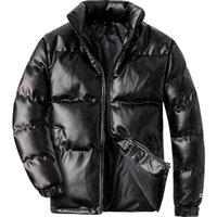 Woodvoice зимняя куртка мужчины повседневная одежда мягкий теплый слой мужская искусственная кожа утолщение пальто человека ветрозащитный мода черный