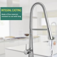 Bathroom Sink Faucets European-style Pull Out ORB Single Connection Kitchen Tap Stud Installation Rotatable Water Faucet