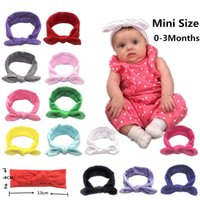 XMY 12 colors Kid Girl Baby Headband Toddler Bowknot Elastic Flower Hair Band Rabbit Ear Headdress Cotton Solid Cute Princess Accessories