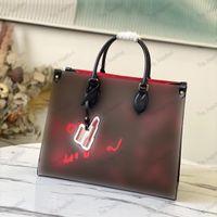 Liebe The Signature MM OnThego Tote Bag Designer Handtasche Lippenstift Tags Echtes Leder Shouder Bags High-Capacity-Geldbeutel