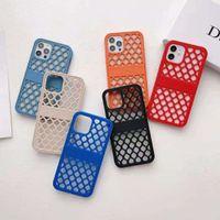 Capas de telefone de designer para iPhone 12 Pro Max 11 xr Mutil Cor Hollowed Design Caixa MobilePhone com boa dissipação de calor