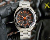 F1 OROLOGIO DI LUSSO Herrenuhr Quarz Uhren Rennfahrer 33 Bewegung Armbanduhren Dreifarbige 41mm große Zifferblatt Sports uhren multifunktionale Chronograph hy76