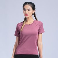 Yoga Outfits Women Shirts Short Sleeve Sport Top Brethable Fitness Clothes Gym Quick Dry Workout Running SportsWear