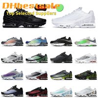 Wholesale Tuned 2 Tn Plus 3 Running Shoes Leather Triple Black ALL White Valor Blue Hasta Crimson Red Mens Women Sneakers Trainers SIZE
