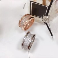 Cluster Rings Jindian Brand Fashion Full Transparent Crystal Jewelry Original Micro-Label Women's Ring Stainless Steel Wedding Bvl