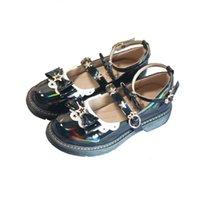 Nouveau Star Boucle Design Bowknot JK Student Uniformes Chaussures Lolita Round Toe Slingshot Back Kawaii Girl Jump Moyenne CBKZ