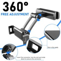 Universal Car Bakgrundshållare Stativ för iPad 7.87Inch Tablet 360 Rotationsfäste Baksäte Bakmonterad Handrest Soporte Tablet