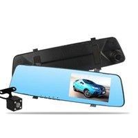 """Автомобильный видеорегистратор 4.5 """"Зеркальное зеркало высокой четкости starlight ночное видение двойного объектива приводное рекордер с задним видом 1080p dash камера"""