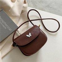 Evening Bags Women's 2021 Spring Shoulder Messenger Pure Color Bowknot Mobile Phone Wallet Flap Solid