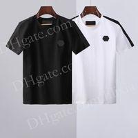2021 Новая горячая распродажа футболка мужская короткая растягивающаяся хлопчатобумажная модернизация тройник мужская вышивка тигра печатная птица змеиный ошейник воротник футболки # 699