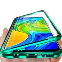 Para Redmi Nota 9 Caso 360 Casos de vidro frente e verso para Xiaomi Redmi Nota 9 Note9 6.53 Magnetic Metal Bumper Capa Cobertura