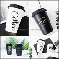 Tumblers Drinkware Kitchen, Dining Bar & Gardenstainless Steel Reusable Letters Print Juice Cup Travel Water Home Office Coffee Mug Drop Del