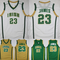 2021 Mens Lebron Jersey James St. Vincent Mary Lisesi İrlandalı 23 Dikişli Basketbol Formaları Gömlek
