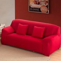 1 2 3 4 مقاعد غطاء أريكة دنة الحديثة مطاطا البوليستر الصلبة الأريكة الغلاف كرسي أثاث حامي غرفة المعيشة 6 ألوان 629 v2