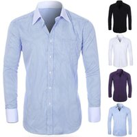 Men's Dress Shirts Shirt Clothing shirts For Men Striped Turn-down Collar French Cuff Button Long Sleeve Buttons Closure Plus Size