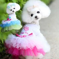 Dog Apparel Pet Clothes Lace Classic Tie Skirt Princess Cute Dress 6 Type Accessories Small And Medium Cotton
