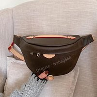 Wholesale New Fashion Pu Leather Brown flower Handbags Women Bags Fanny Packs Waist Bags Handbag Lady Belt Chest bag