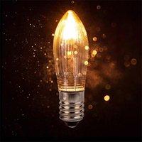 10pcs 3W Lampadine a luce calda a luce calda Candele affusolate E10 LED Lampadine di ricambio per luci Arco di candela 8V 12V 14V 16V 23V 34V 48 V 55 V