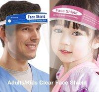 Enfants Adulte Visage Visage Bouclier Enfants Masque Clear Masque Anti-Broche Full Face Face Isolation Transparente Visière Protection Éclaboussures Séchage de sécurité