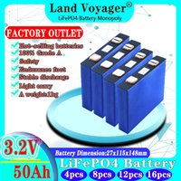 Land Voyager 3.2v 50Ah lifepo4 cells lithium batteries for electric bike battery pack solar energy system EU US Tax Free AAA grade