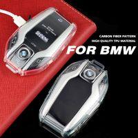 Coque de boîtier de voiture TPU FOB costume pour BMW 5 7 Série G11 G12 G30 G31 G32 I8 I12 I15 G05 X5 G07 X7 F48 Écran LCD