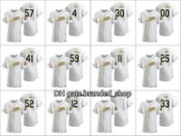 Cousu clevelands 2021 hommes # 18 Carson Tucker 25 Jim Thome 12 Francisco Lindor Custom Women Youth Blanc Authentic Golden Edition Jersey