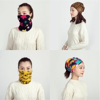 Bufandas 4pcs camuflaje estrella impresa bufanda mujeres multifuncional babero ladias cobertura otoño invierno protección frio cuello cabeza pañuelo