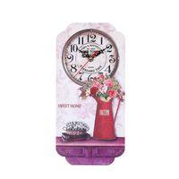 Гостиная Настенные Часы Дома Мода Квадратный Подарок Точный Винтаж Декоративный Деревянный Европейский Стиль Висит Бар молчать