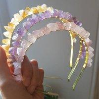 2021 Handmade Tiara Natural Quartz Crystal Crown Hair Combs Angel Aura Headband Mermaid Wedding Accessories