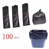 (596A15) Jednorazowe plastikowe czarne woreczki zbierają torby na śmieci rodziny często używanych 100 sztuk