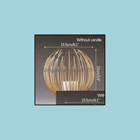 촛불 장식 홈 Gardencandle 홀더 크리 에이 티브 기하학 촛대 장식 낭만적 인 빛 럭셔리 홀더 식탁 웨딩 촛불