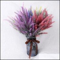 Wreaths Festive Party Supplies & Gardenlavender Artificial High Quality Flower For Wedding Home Decor Grain Decorative Fake Plant Silk Flowe