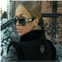 Yüksek Lensler Güneş Kahverengi Gözlük Bayan Siyah Erkek Pilot Klasik Gözlük Güneş Gözlüğü Altın Marka Kalite 60mm Cam Tasarımcı CMWKM