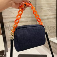 Luxurys designers Shoulder bags High quality P Tote Women Fashion chain Clutch cowboy Underarm Cosmetic Bag Handbags crossbody 2021 purse ladies wallet