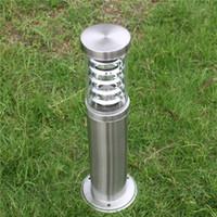 Открытый полюсный стержень Bollard Light Column Post Lame LED Современная нержавеющая сталь Водонепроницаемый наружный лужайкий ламп