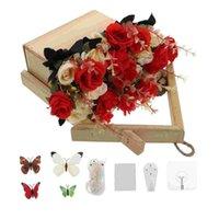 Planters & Pots 1 Set Indoor Artificial Plant Pendant Wooden Flowerpot Wall