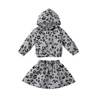 Clothing Sets Infant Toddler Baby's Clothes Girls 2Pcs Fall Outfits Casual Long Sleeve Leopard Print Hoodie And Skirt Children's Set