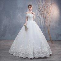 Other Wedding Dresses 2021 Shining Beading Tassel Off The Shoulder Boat Neck Dress White Lace Applique Custom Made Slim Robe De Mariee