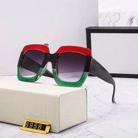 Mulheres Moda Retro Rodada Sunglasses Luxury Designer Marca De Glass Metal Frame 5 cor com caixa