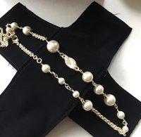 Collar de moda para mujer Collar de perla brillante de alta calidad Collar de material de latón Regalo Venta caliente Joyería Suministro