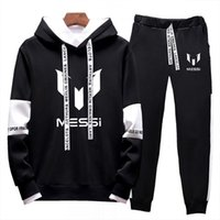Sets Tracksuit Men Fashion New Barcelona Suit Sportswear Cotton Piece Sporting Two Fleece Thick Hoodie+Pants 2021 Messi Male T200319 Uwief