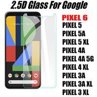 2.5D 0.33mm Clear Threaded стекло телефон защитника экрана для Google Pixel 6 5 5XL 5A 4 4A 4XL 5G 50 шт. / Пакет Принять смешанный заказ