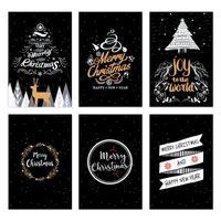 6pcs set Christmas Greeting Card Creative Retro Gift Thank You