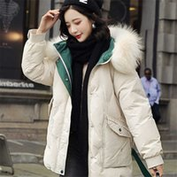 Hooded Winter Jacket Women White Duck Down Thick Parkas Warm Snow Coat 211015